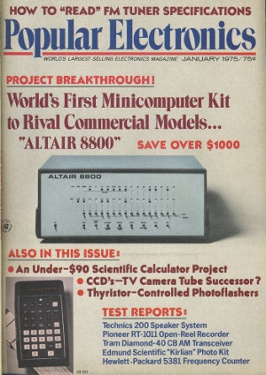 Altair first personal computer